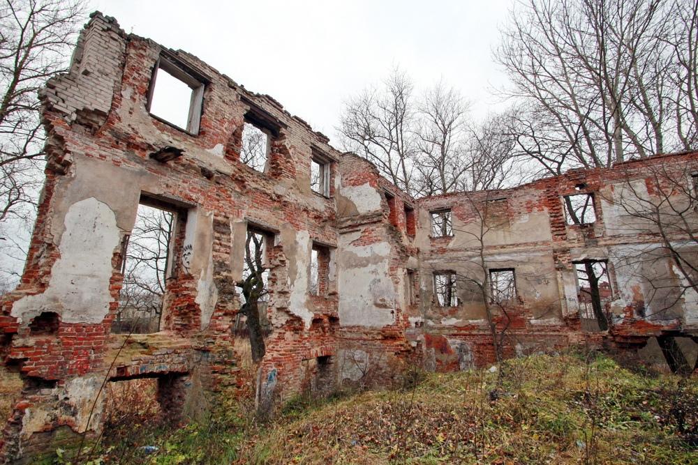 Красное Село, улица Горбунова, 3, дворец Александра I, руины