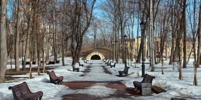 Кронштадт, Летний сад, главная аллея