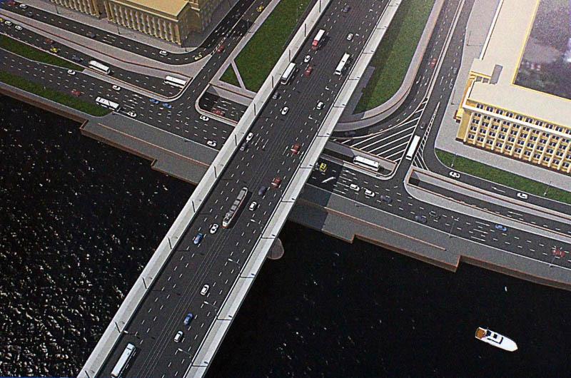 Малоохтинский проспект, развязка у моста Александра Невского