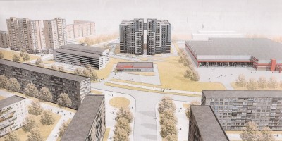 Переулок Челиева, проект жилого дома, перспектива Искровского проспекта