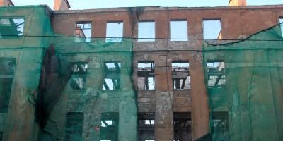 Подъездной переулок, 13, капитальный ремонт, стена