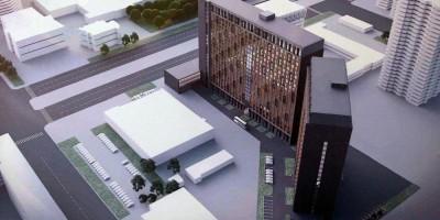 Проспект Просвещения, проект гостиницы, вид сверху