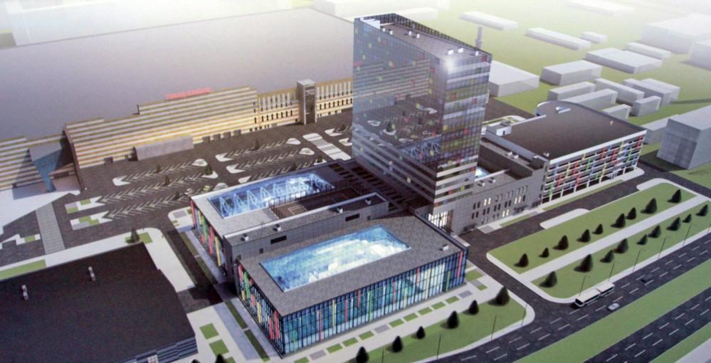 Суздальский проспект, проект спортивного комплекса, сверху