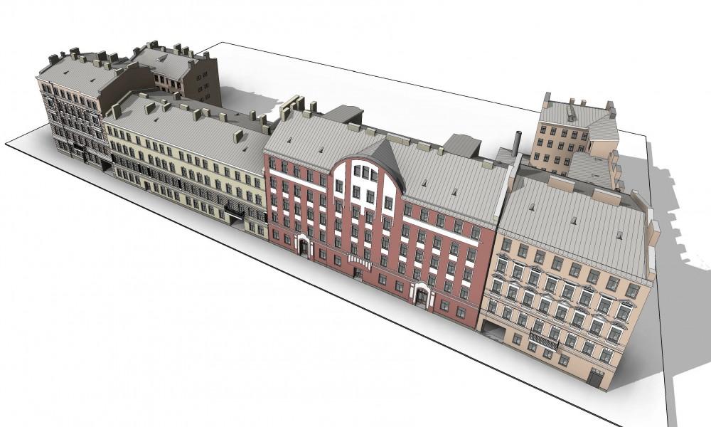 Тележная улица, проект воссоздания жилых домов