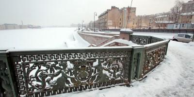 Литейный мост, ограда