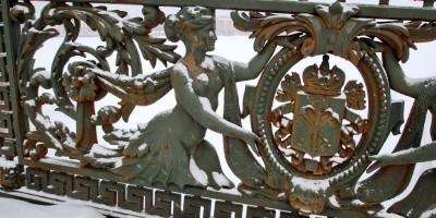 Литейный мост, ограда, фрагмент