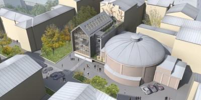 Невский проспект, 100, реконструкция кинотеатра Колизей, вид сверху
