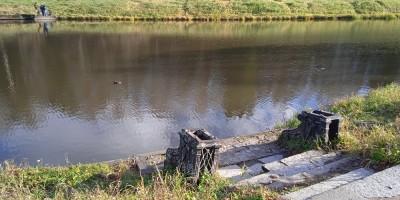 Павловск, паромная переправа на Старосильвийском пруду у Висконтиева моста
