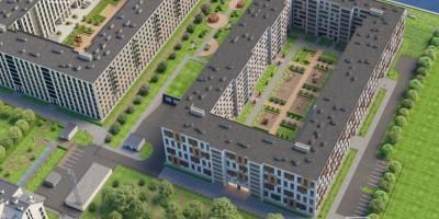 Петровский проспект, проект жилого комплекса, виду сверху