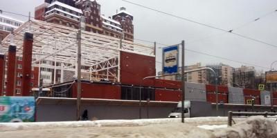 Разборка здания на проспекте Энгельса