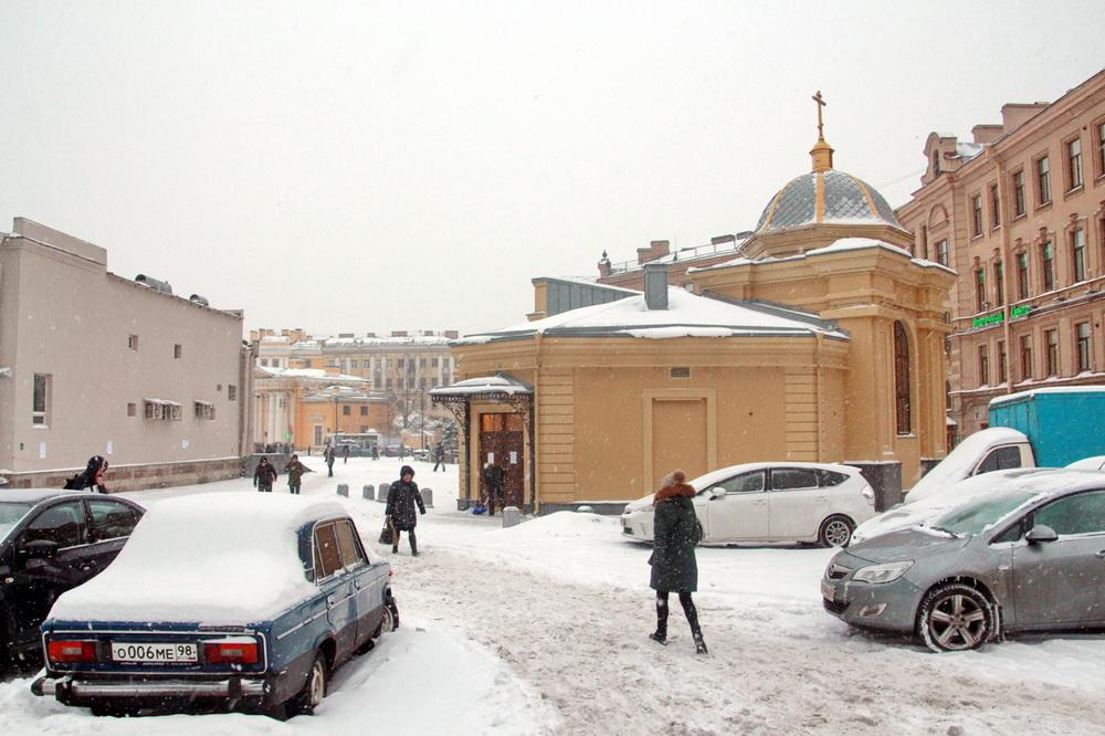 Сенная площадь, часовня Иоанна после реконструкции