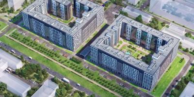 Манчестерская улица, проект жилого комплекса, вид сверху
