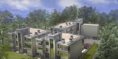 Зеленогорск, Комсомольская улица, дом 31, проект жилого комплекса, вид сверху