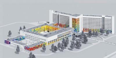 Авангардная улица, 14, детская городская больница № 1, проект фасадов