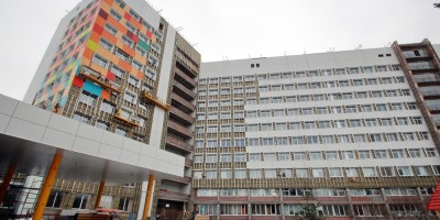Авангардная улица, дом 14, детская городская больница № 1, ремонт фасадов