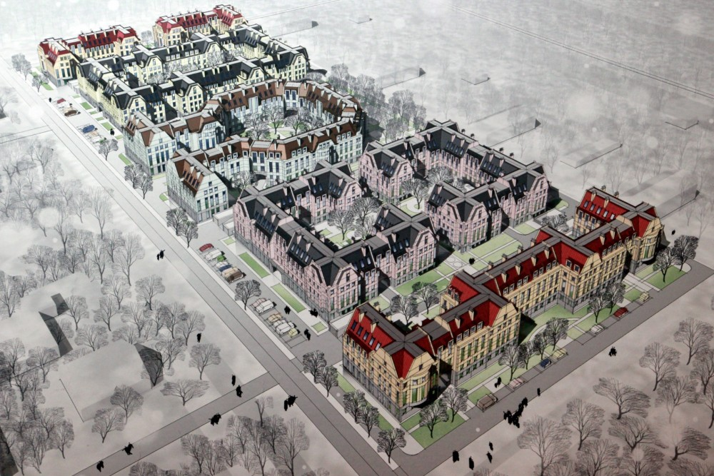Лисий Нос, Зеленый проспект, 2, проект жилого комплекса, вид сверху