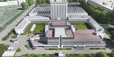 НИИ скорой помощи имени Джанелидзе на Будапештской улице, 3, проект нового корпуса, вид сверху