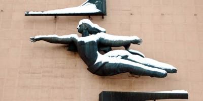 Проспект Энгельса, дом 27, литера ВИ, летящая девушка Светлана