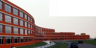 Угол проспекта Королева и Литориновой улицы, проект школы, фасад