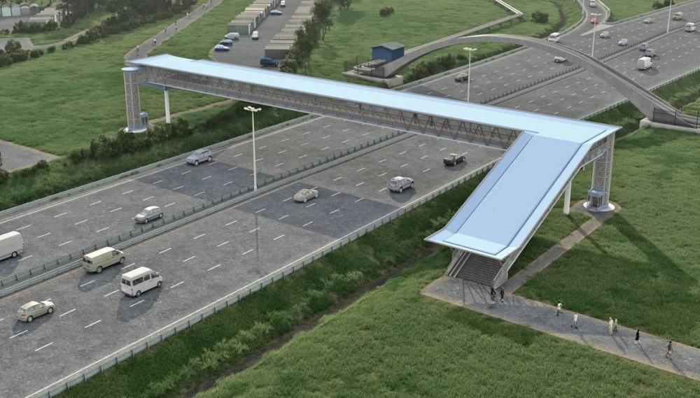 КАД, проект пешеходного перехода