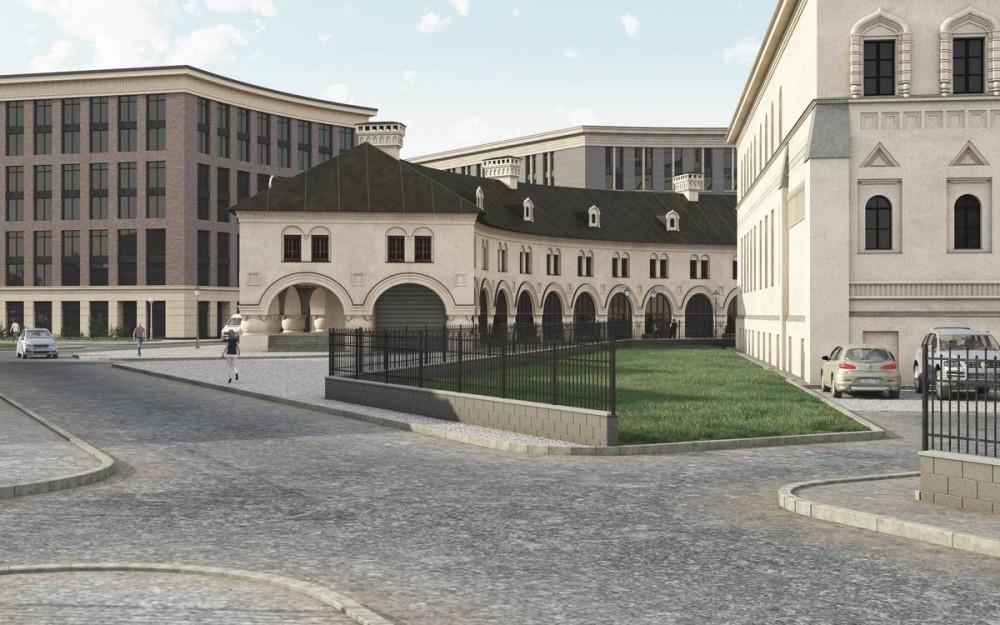 Миргородская улица, торговый центр у собора