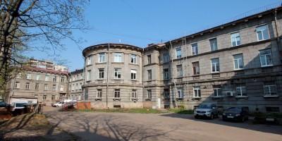 НИИ целлюлозно-бумажной промышленности на 2-м Муринском проспекте, 49, задний фасад