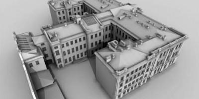 Проект капитального ремонта богадельни на Каменноостровском проспекте, 66, вид сзади