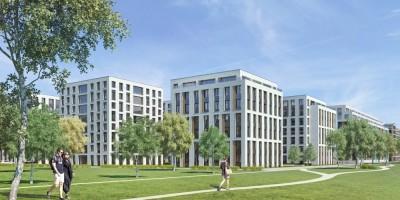 Петровская площадь, проект жилого комплекса, двор