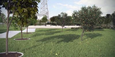 Сквер на Заречной улице, проект