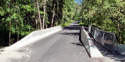 Ушково, мост через Ушковский ручей в створе Советского переулка