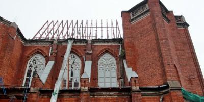 Костел святого Сердца Иисуса на улице Бабушкина, 57, восстановление кровли