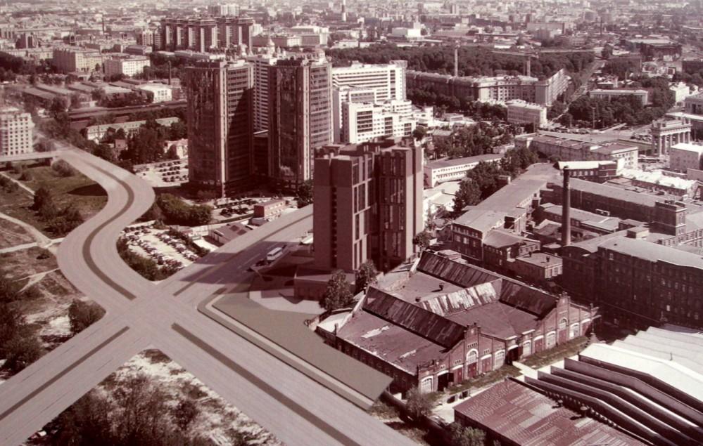 Парфеновская улица, проект гостиницы, вид сверху