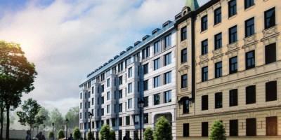 Троицкая площадь, проект жилого дома, фасад