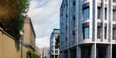 Троицкая площадь, проект жилого дома, пешеходная улица