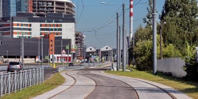Гранитная улица, трамвайные пути