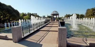 Любашинский сад, фонтан, дорожка