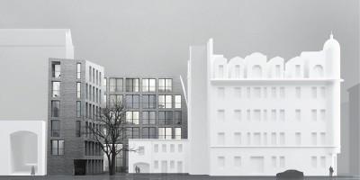 Бармалеева улица, дом 22, проект жилого дома, вид с Подрезовой