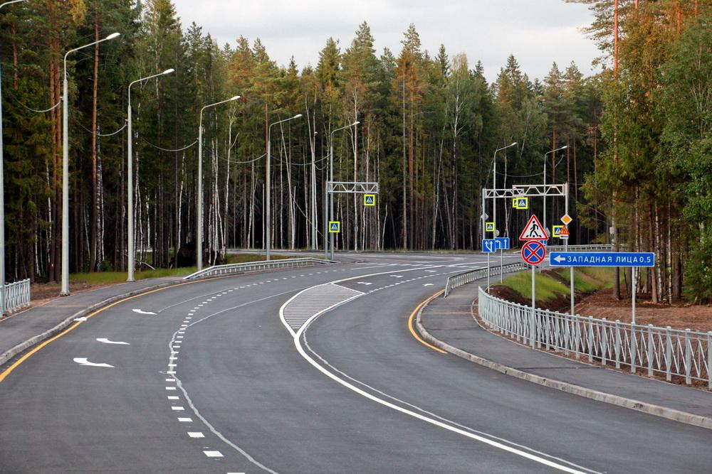 Песочный, Белоостровское шоссе, поворот к Западной Лице