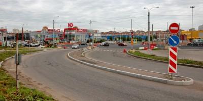 Полевая Сабировская улица, новая трасса у перекрестка с Богатырским проспектом