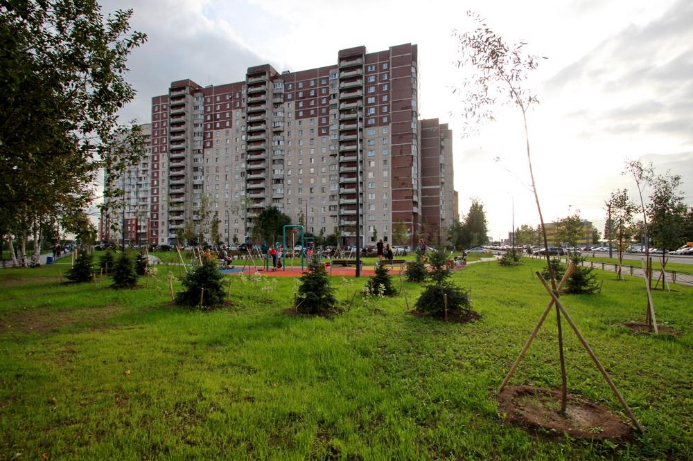 Угол Туристской и Школьной улиц, сквер