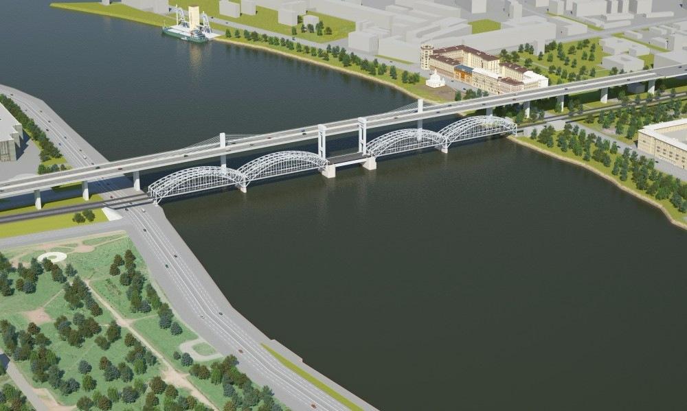 Восточный скоростной диаметр, мост через Неву