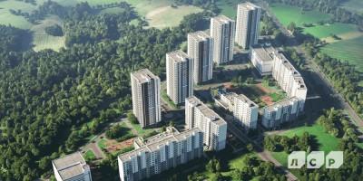 Жилой комплекс на Орлово-Денисовском проспекте, вид сверху