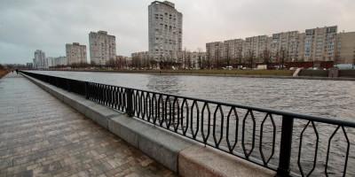 Набережная реки Смоленки возле Новосмоленской набережной