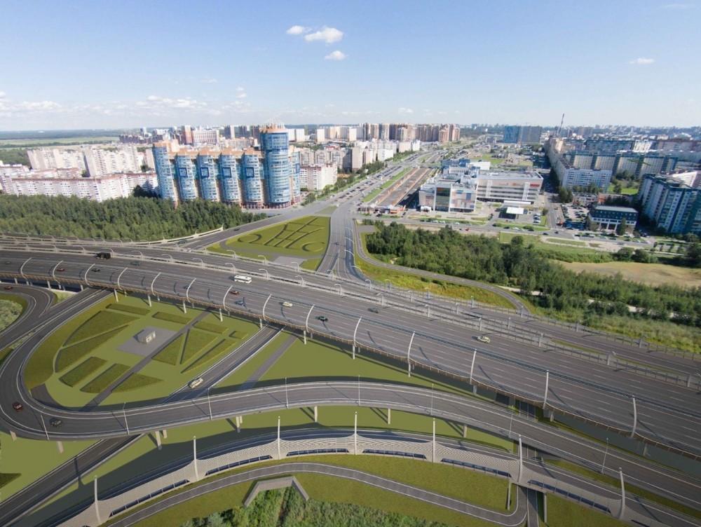 Развязка ЗСД и Шуваловского проспекта