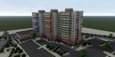 Шушары, Валдайская улица, проект жилого дома с поликлиникой
