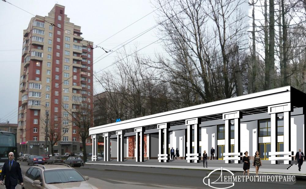 Станция метро Путиловская, наземный вестибюль