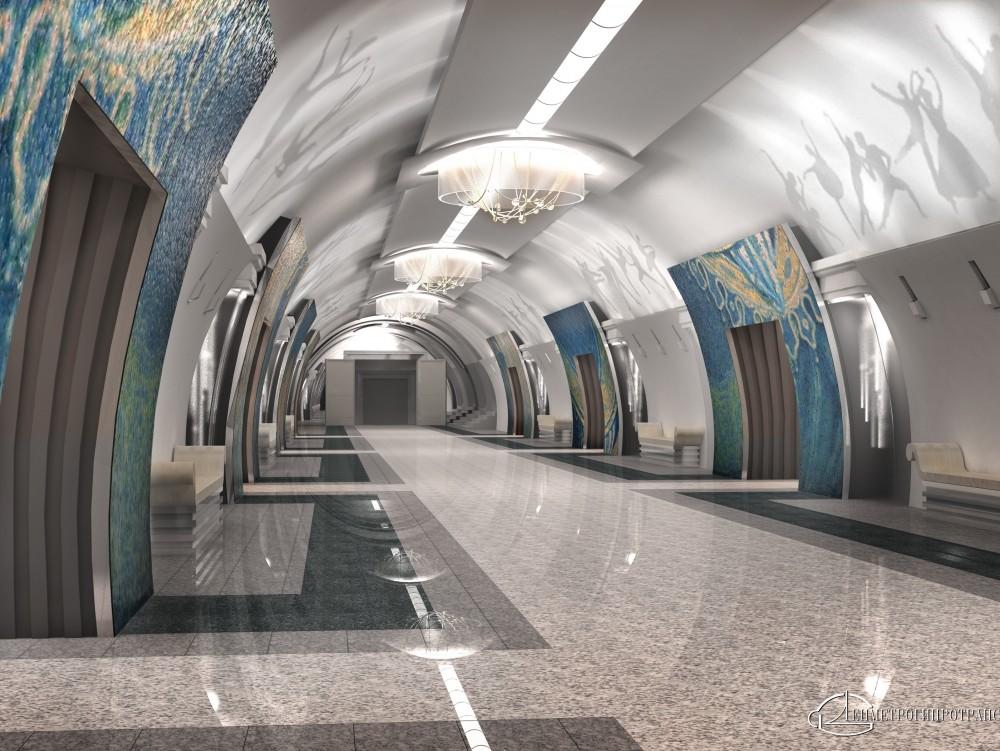 Станция метро Театральная, центральный зал