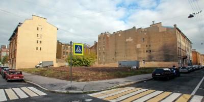 Угол Мясной и Витебской улиц после сноса бомбоубежища