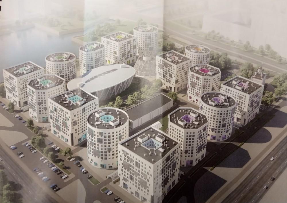 Улица Кораблестроителей, проект кампуса СПбГУ, новая версия