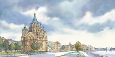 Борисоглебская церковь на Синопской набережной